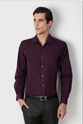 Purple 55% Cotton And 45% Polyester Shirt