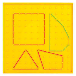 Geoboard (Transparent) 11x11 Flat Head Peg Grid