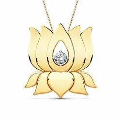 Lotus Diamond Pendant