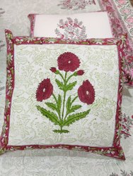 Hand Block Print Floral Cushion Cover Boho Case
