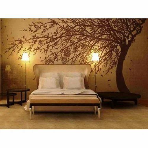 Horizontal Fancy Bedroom Wallpaper, Rs 30 /square feet, Factory 2 ...
