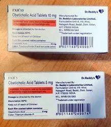 Fxr 5mg (Obeticholic Acid -Generic Ocaliva -Dr .Reddys), Packaging Size: 10 Tablets In a Strip, Tablet