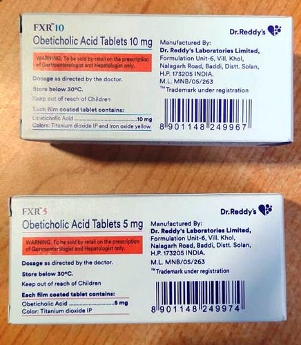 Fxr 5mg (Obeticholic Acid -Generic Ocaliva -Dr .Reddys)