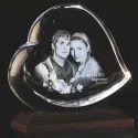 3D-1143E Heart Shaped 3D Crystals