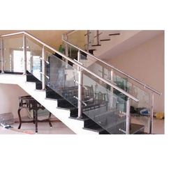 Stainless Steel Handrail With Glass