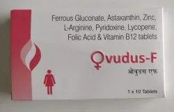 Ferrous Gluconate, Astaxanthin, L-Arginine. Pyridoxine, Lycopene, Folic Acid & Vitamin B12 Tablets