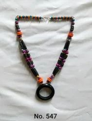 Black Modern Desiner Bone Necklace, Size: Normal
