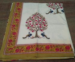 Hand Block Bed Sheet