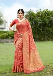 6.3 m (with blouse piece) Banarasi Silk Woven Saree
