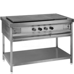 Stainless Steel Chapatti Hot Plate with Puffer, for Hotel