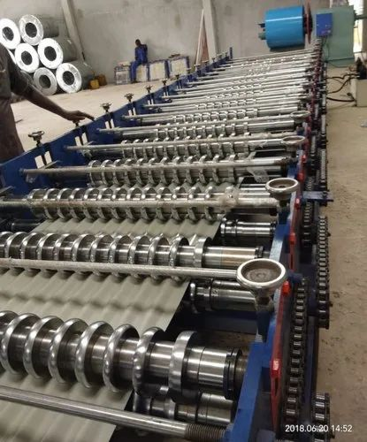 Corrugated Metal Curved Roofing Sheet Making Machine ...