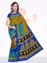 Printed Pure Cotton Saree, 5.50 Meter, Hand Made