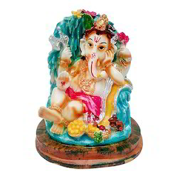 Marble Look Lord Baby Ganesha Colorful Idol/Statue Gift Item