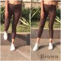Polyester Printed Ladies Pants, Waist Size: 30.0