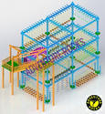 Triple Layer 6 Pole Rope Course