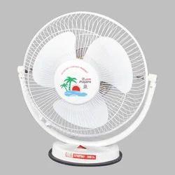 White Plastic Jhon Players Table Fan, Size: Medium
