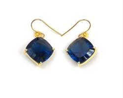 925 Sterling Silver Iolite Quartz Gemstone Earring