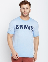 Cotton Men Printed Round Neck T-Shirt