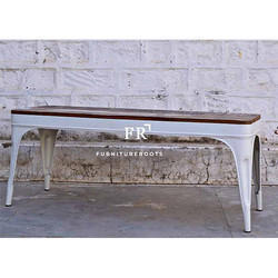 FurnitureRoots Indian Bar Metal Bench