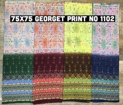 75X75 Georgette Print Fabric