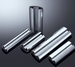 Polished Stainless Steel Oval / Round Slotted & Grooved Pipes