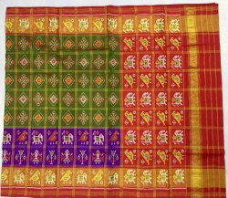 Zari Checks Patola Silk Saree