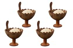 Coconut Shell Desert Cup Natural
