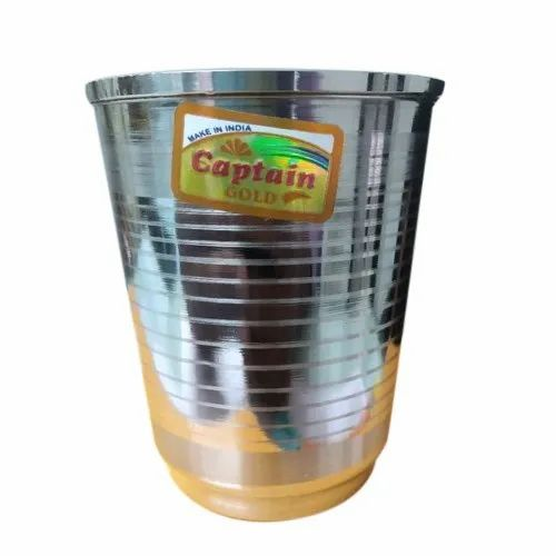 Captain Gold Stainless Steel Round Kitchen Glass, Material Grade: 200 Series, Packaging Type: Packet