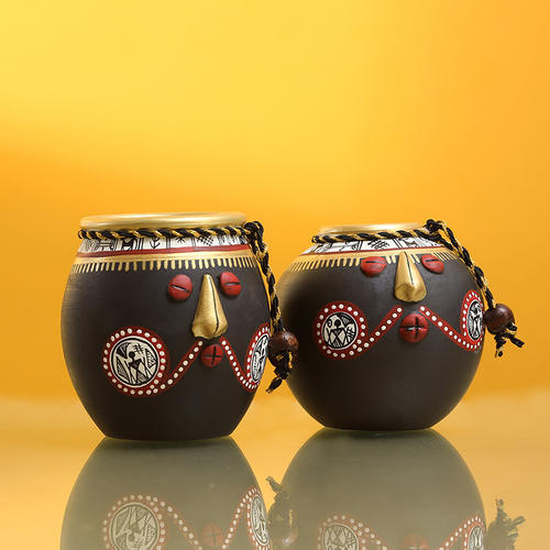 stone black exclusivelane  u0026 39 tribal pot pair