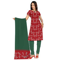 Bandhani Red Suit