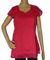 Hand Block Printed Pink Short Top