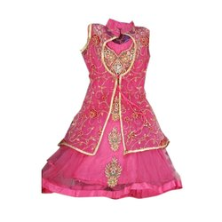 Party Wear Embroidered Pink Anarkali Suit