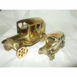 Golden Dummy Brass Vintage Car, for Decoration