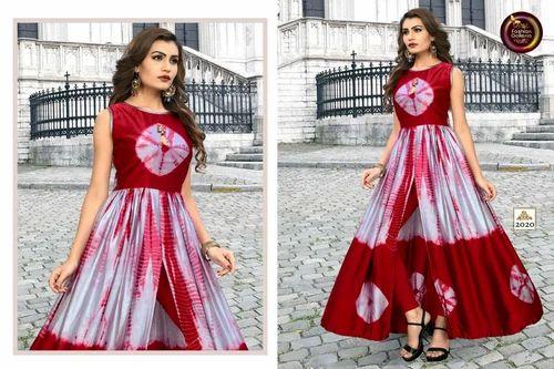 7a3550e0520 Indo Western Semi-Stitched Taiwan Sattin Satin Gowns