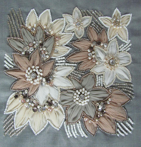 Fabric Beaded Embroidery Work
