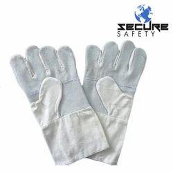 白色纯棉皮革手套