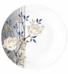Melamine Sonata  Plate White Rose D-2100