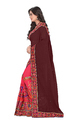 Brown  And Pink Color Designer Pallu Half And Half Georgette Saree