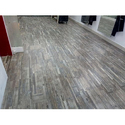 Brown Rectangular Wooden Textured Designer Vinyl Flooring