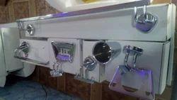 Bathroom Set With Rectangular Soap Case