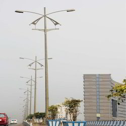 Dual Arm High Mast Pole