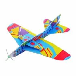 Printed Multicolor Foam Airplane Toy