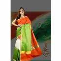 Fancy Tri-Color Cotton Saree