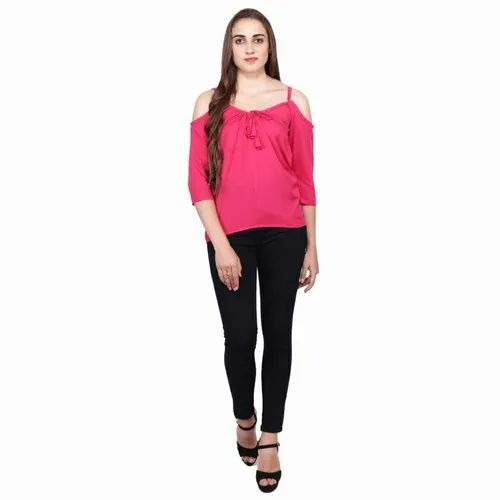 Cotton Casual Cut Shoulder Top, Packaging Type: Packet