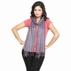 Stripes Pattern Reversible Silk Stole 165