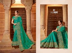 Indian Women Green Color Silk Saree