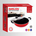 Nirlon 2.25L Deep Kadai With Stainless Steel Lid