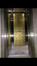 Stainless Steel Coated Elevator Lift Cabin