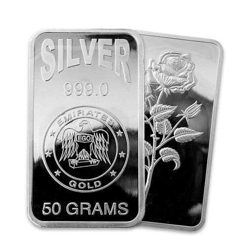 Malabar Gold 50 Gram Silver Bar Rs