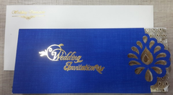 White And Blue General Wedding Card OCT-5419